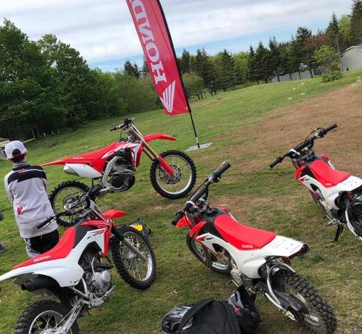 We have a fleet of Honda Canada sponsored Dirt Bikes for use with our training programs